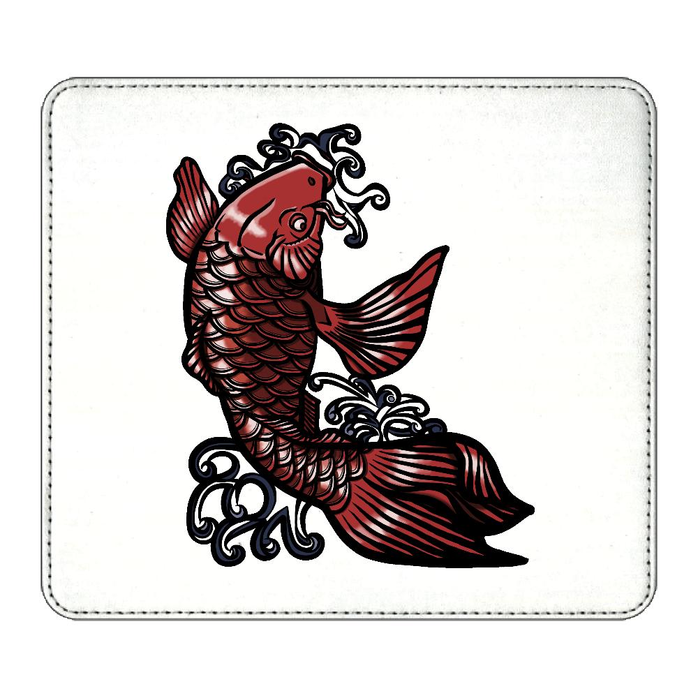 鯉の滝登り 赤 マウスパッド