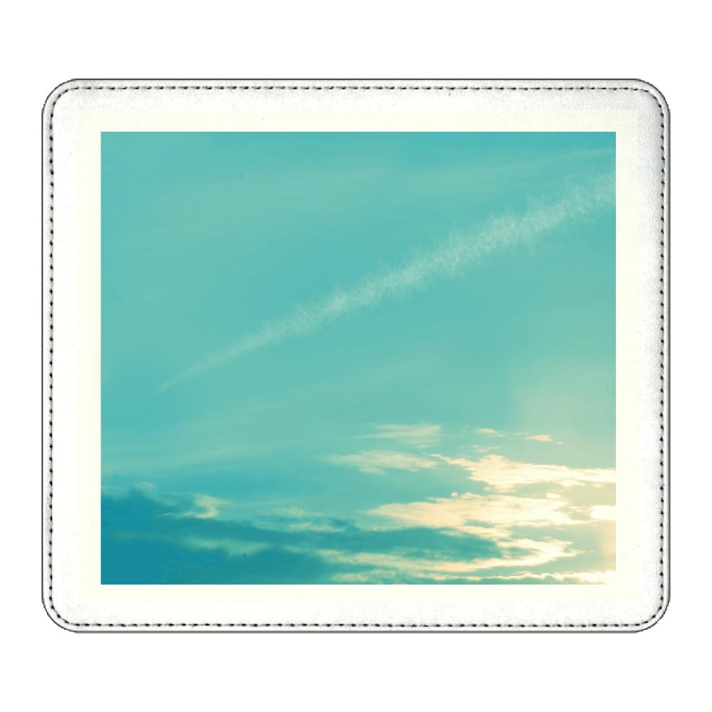 青空に飛行機雲 マウスパッド