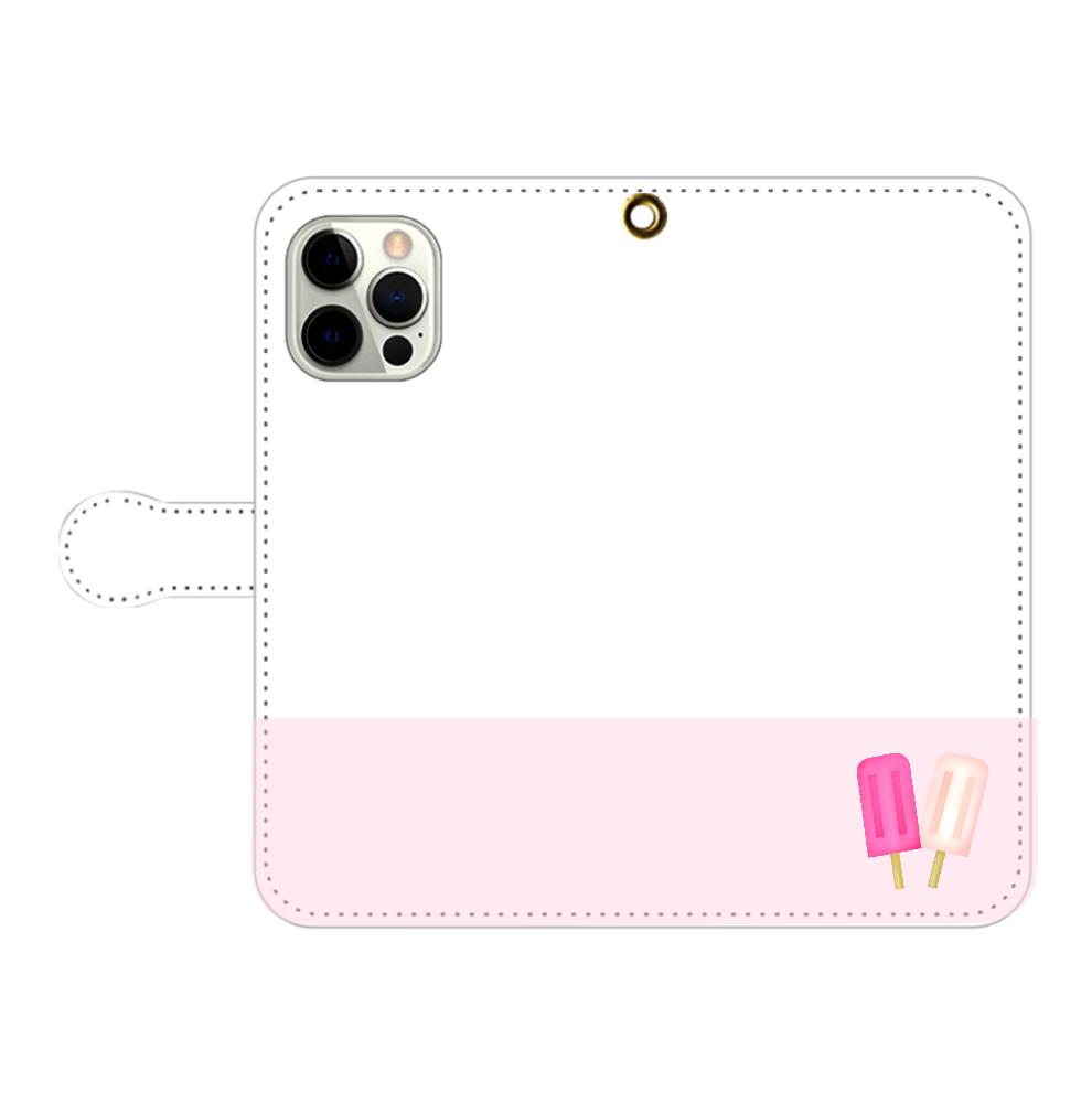 アイス柄スマホケース iPhone12pro max 手帳型スマホケース