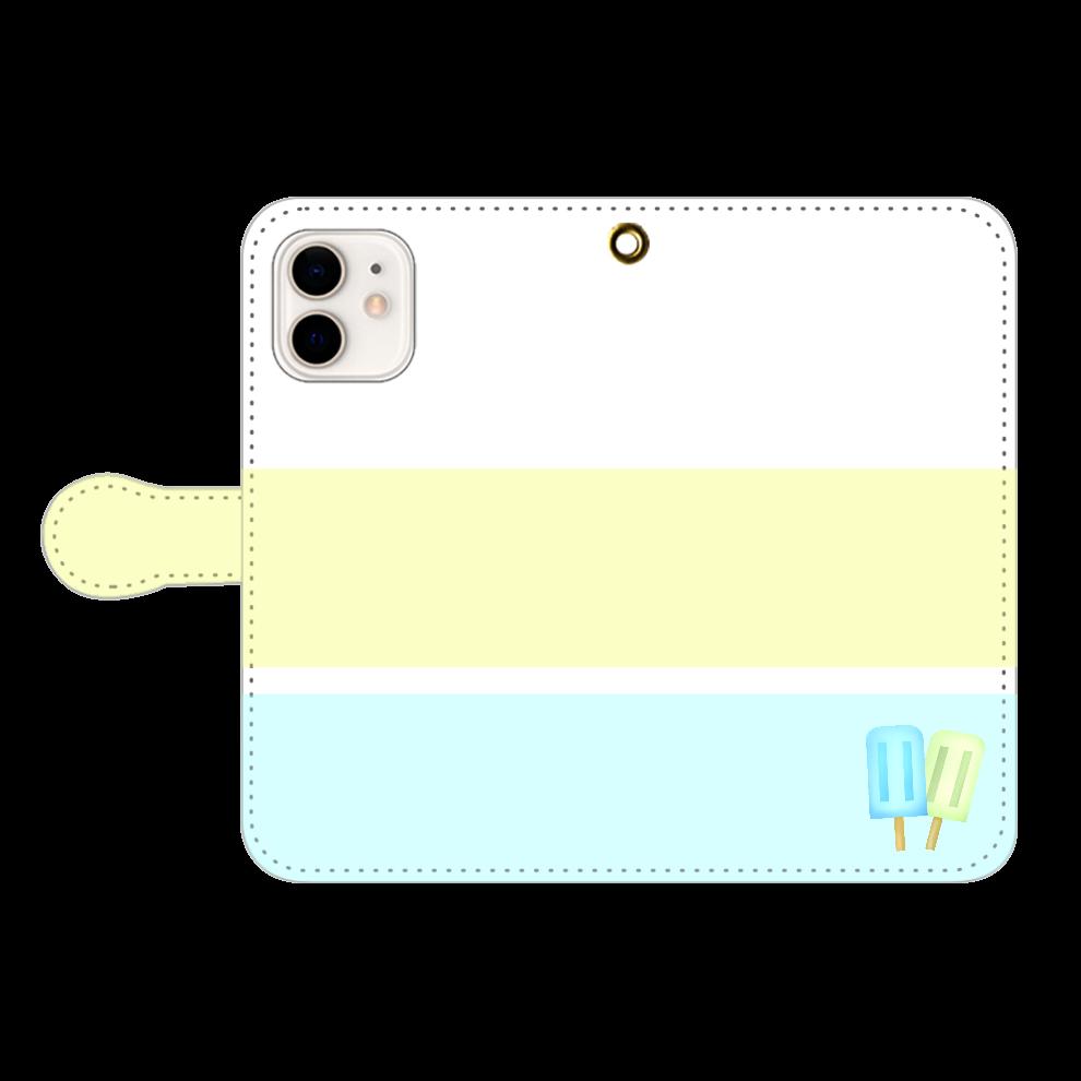 アイス柄スマホケース iPhone12/12pro 手帳型スマホケース