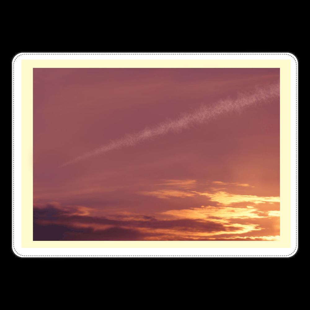 夕焼け空に飛行機雲 タブレットケース汎用Mサイズ