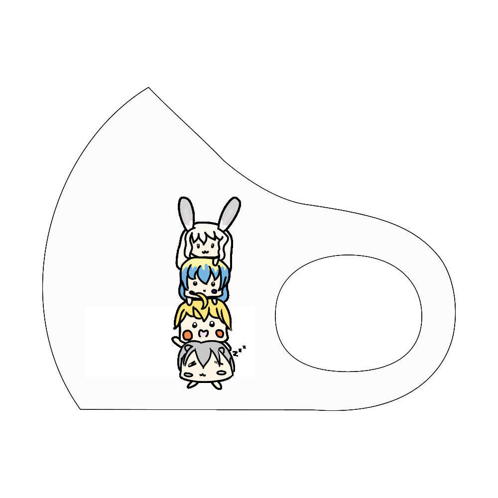 ゆる〜い子たちマスク スポーツマスク