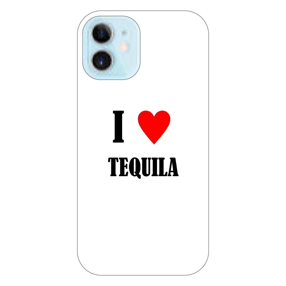 【お酒大好きシリーズ】I ♥ テキーラ iPhone12 mini(透明)