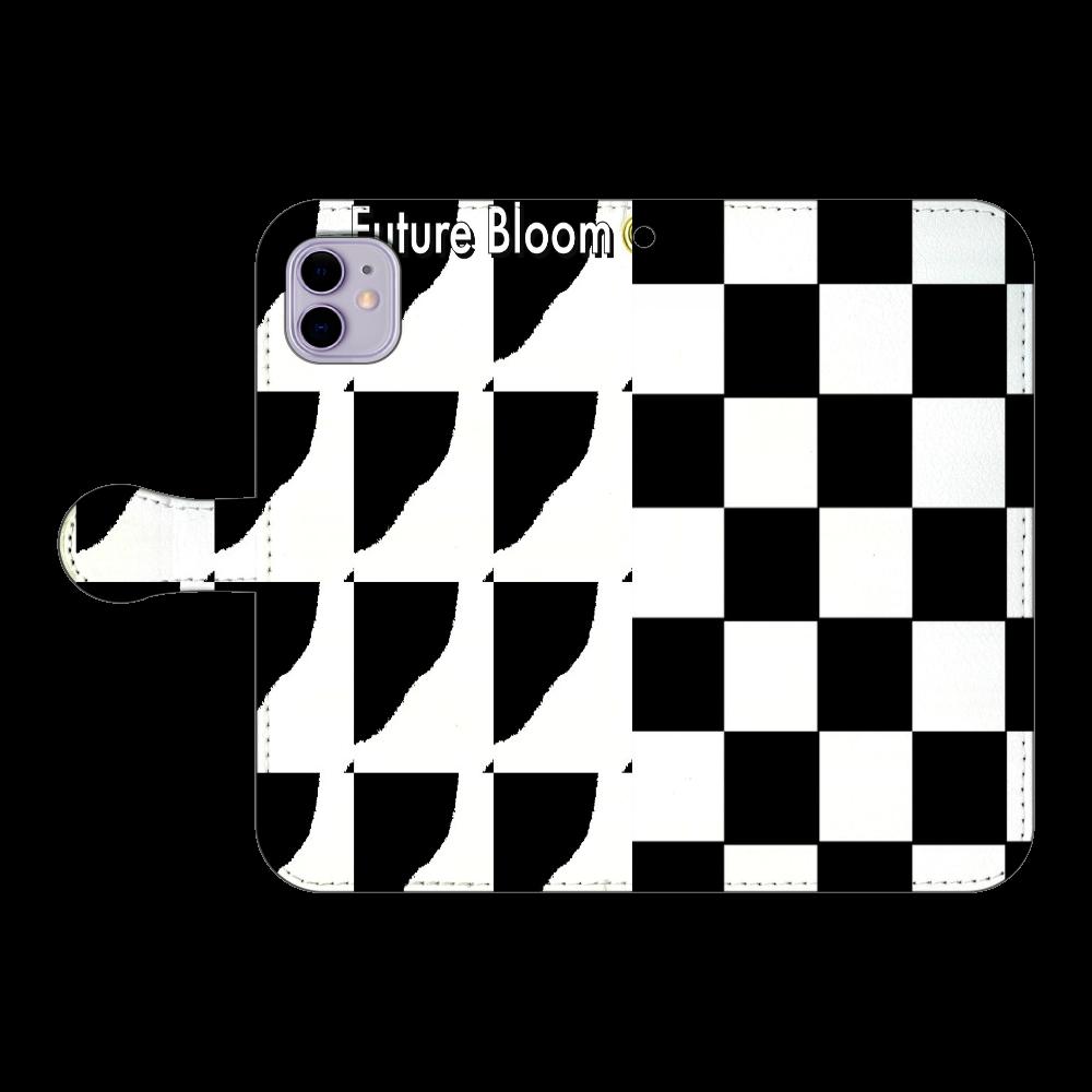 モノクローム 光と影 iPhone11 手帳型スマホケース