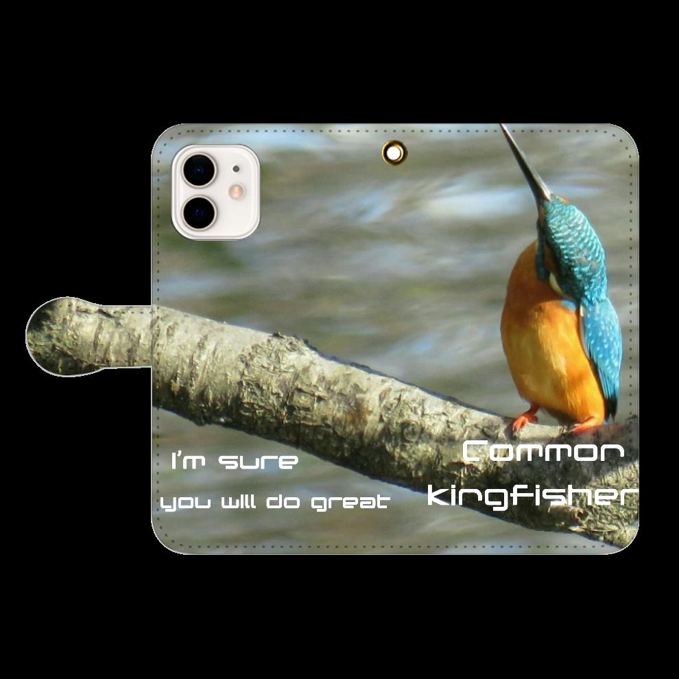 幸せを呼ぶ鳥♡カワセミ( *´艸`) iPhone12/12pro 手帳型スマホケース