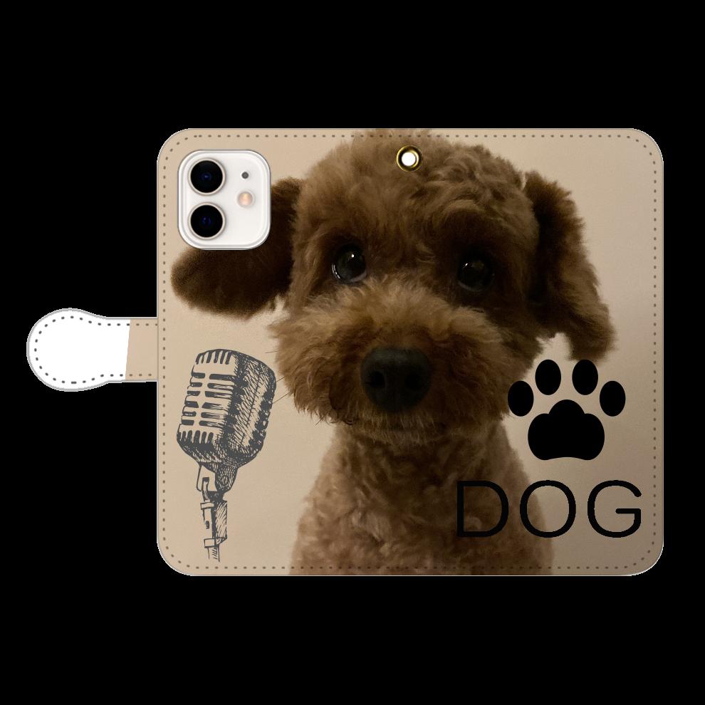 サマーカット DOG  スマホケース iPhone12/12pro 手帳型スマホケース