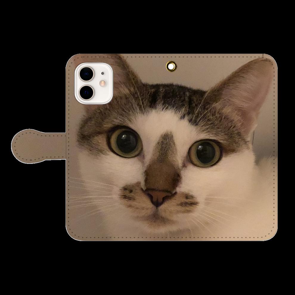 猫のスマホケース iPhone12/12pro 手帳型スマホケース