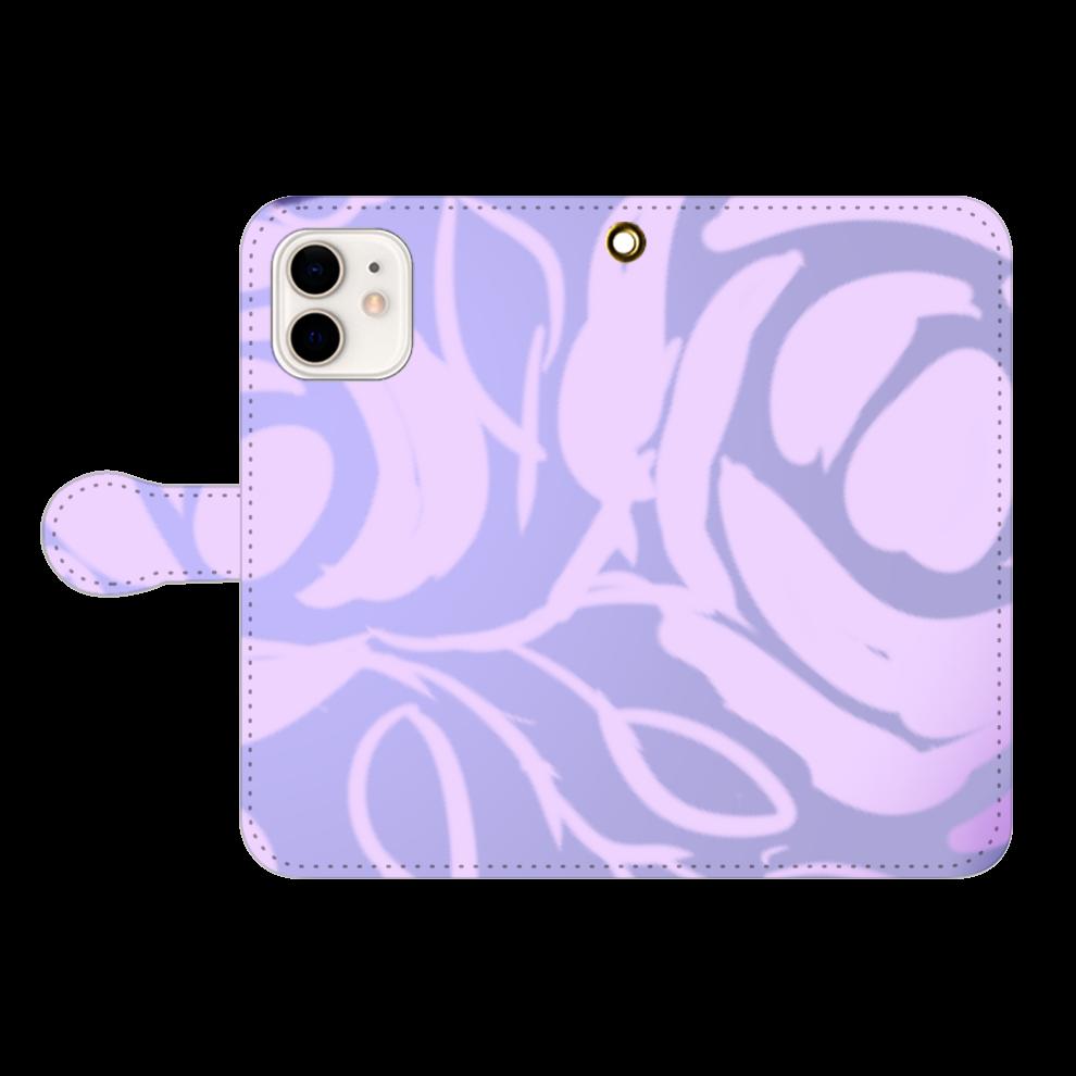 Violet iPhone12/12pro 手帳型スマホケース