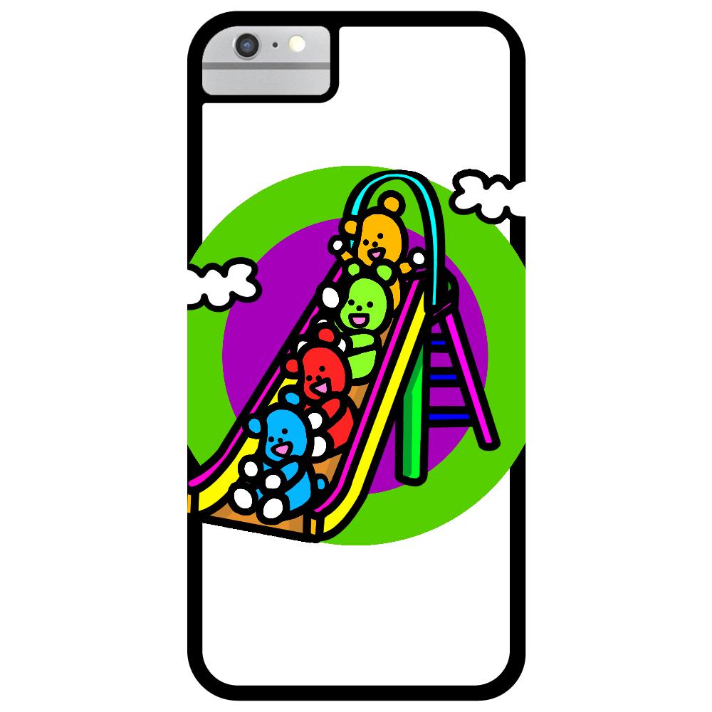 くまの遊び iPhone6_プリントパネルラバーケース