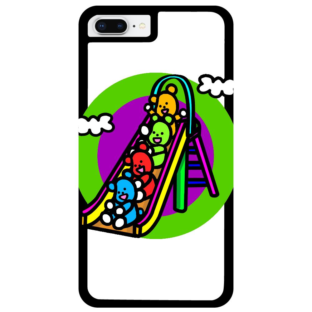 くまの遊び iPhone8Plus_プリントパネルラバーケース