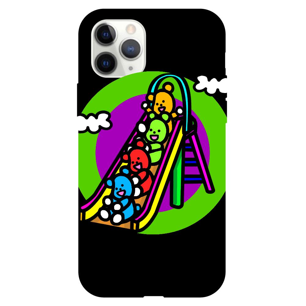 くまの遊び iPhone11pro クリアパネルラバーケース