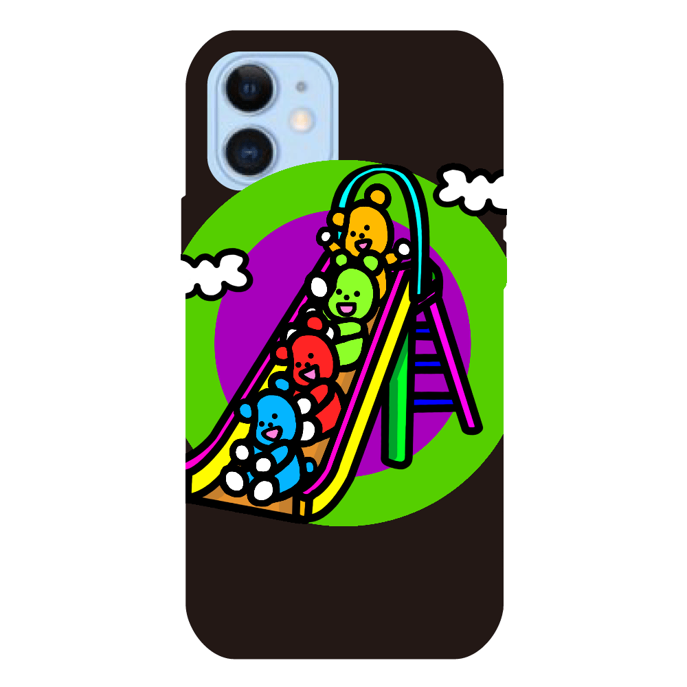 くまの遊び iPhone12/12Proクリアパネルラバーケース