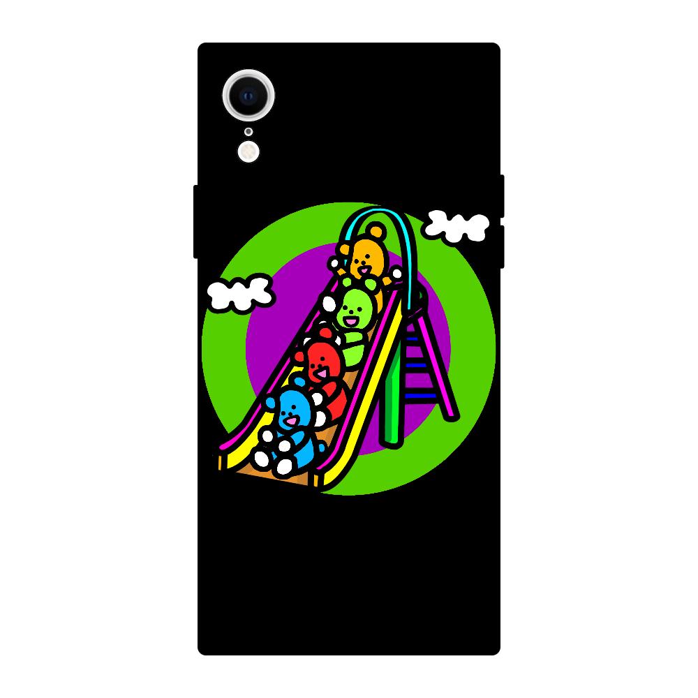 くまの遊び iPhoneXR 背面強化ガラス(スクエア)