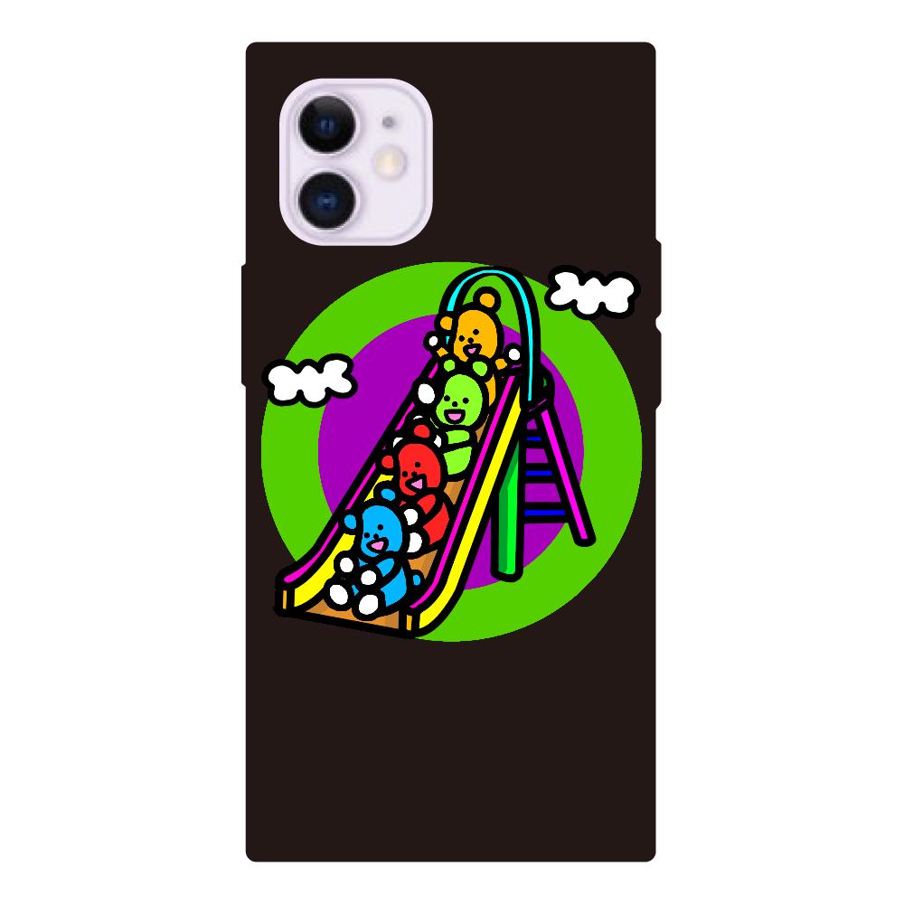 くまの遊び iPhone12mini 背面強化ガラス(スクエア)