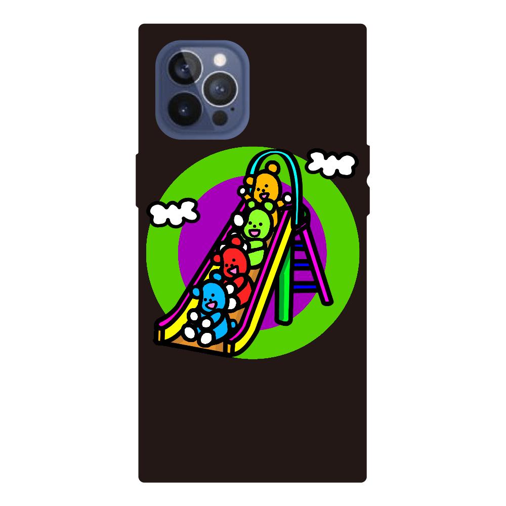 くまの遊び iPhone12pro max 背面強化ガラス(スクエア)