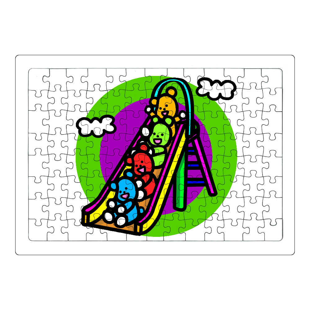 くまの遊び ジグソーパズル A4サイズ 104ピース