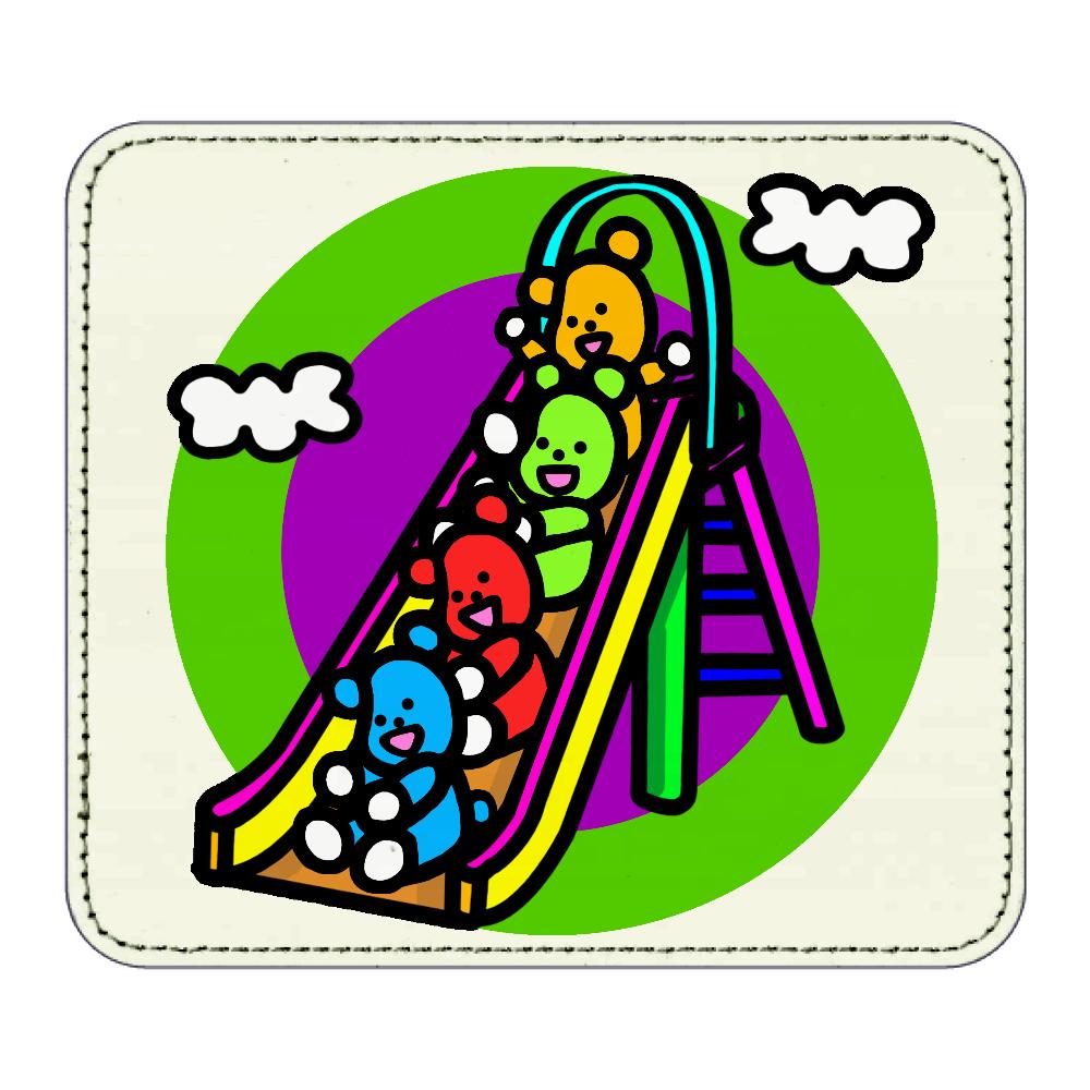 くまの遊び レザーマウスパッド(スクエア)