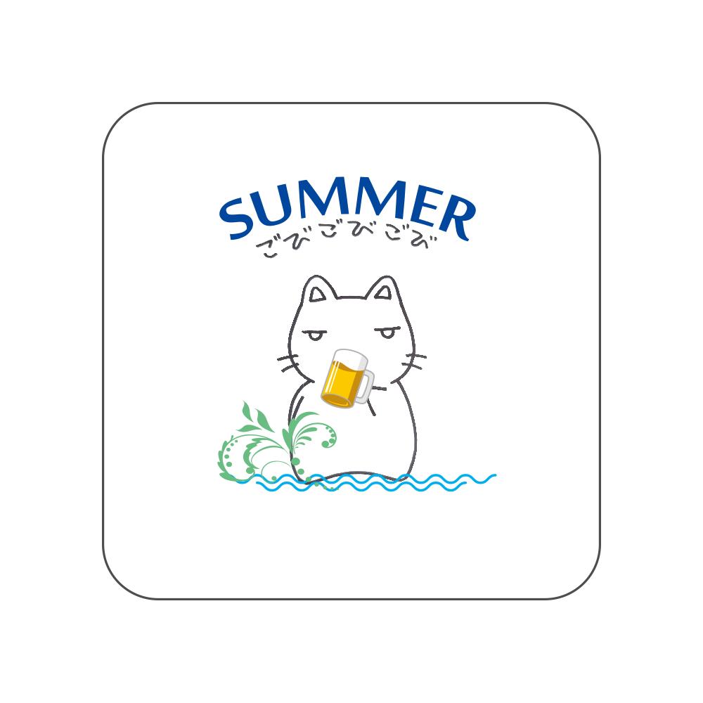 鬱にゃん(夏)タオルハンカチ 全面プリントハンカチタオル
