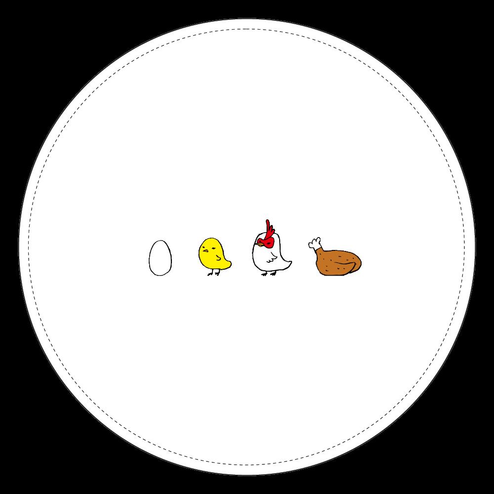 鶏の成長 コインケース