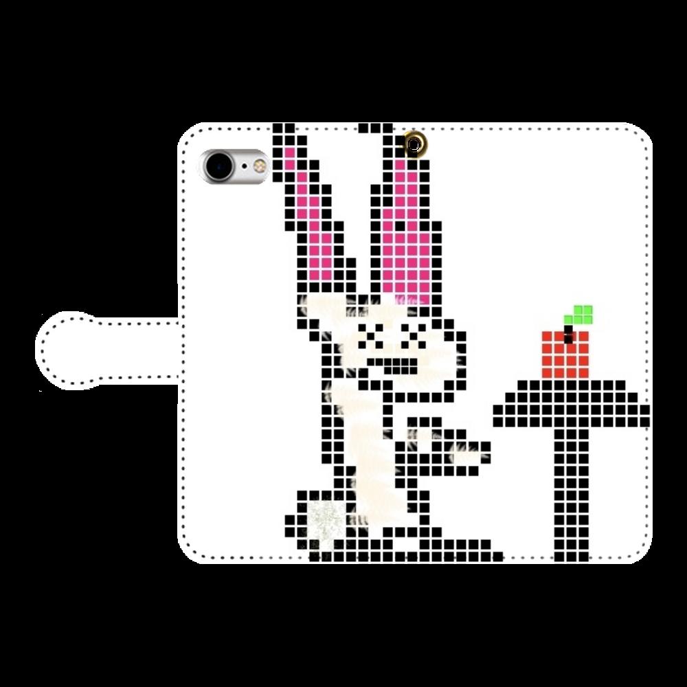 ウサギ iPhone7 手帳型スマホケース