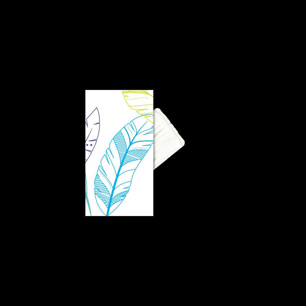 【マスクケース】葉っぱ、カラフル マスクケース