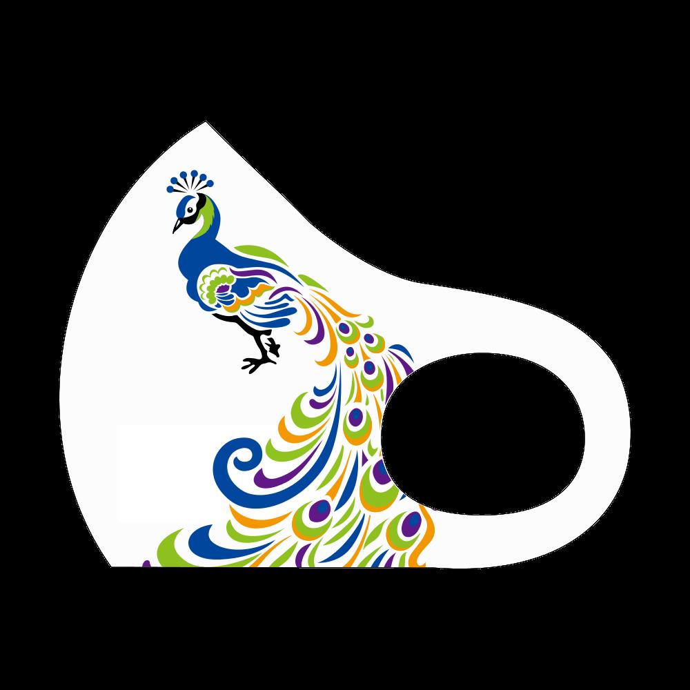 【マスク】鳥、シンプル、クール スポーツマスク