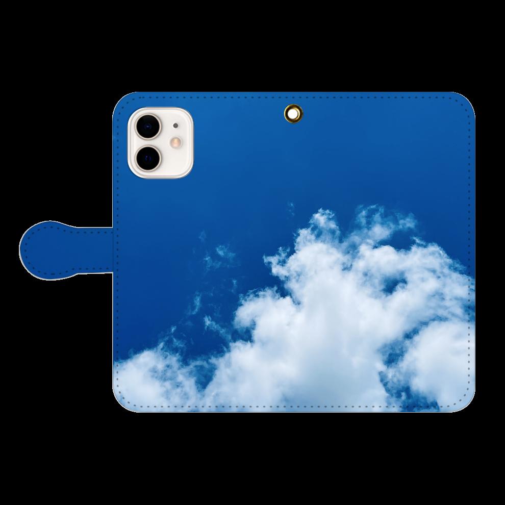 快晴。青い空iPhoneケース iPhone12/12pro 手帳型スマホケース