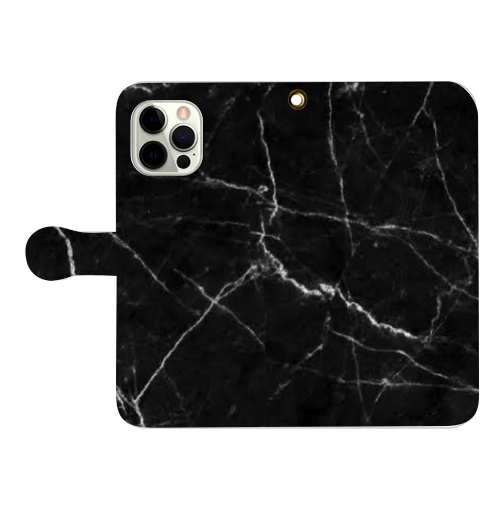 大理石柄スマホカバー iPhone12pro max 手帳型スマホケース