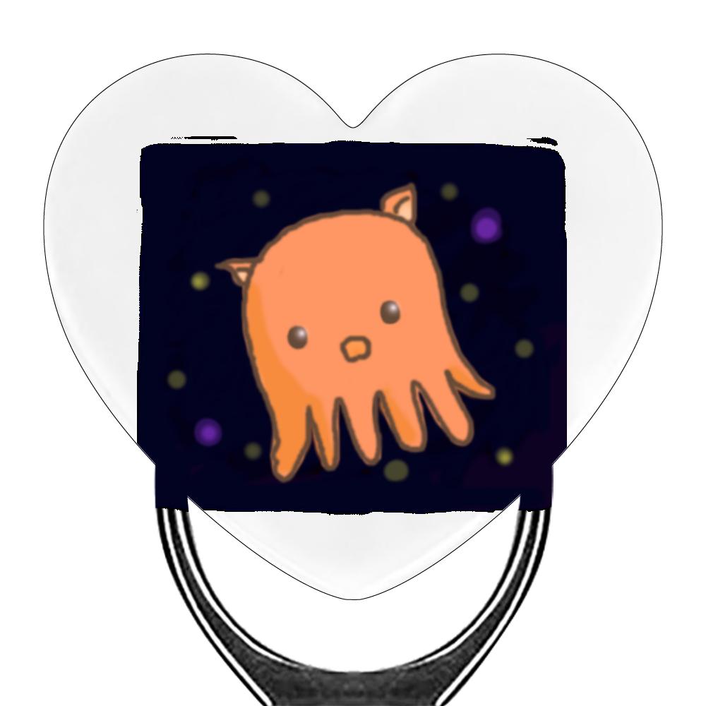 深海魚 メンダコちゃん スマホリング(ハート型)