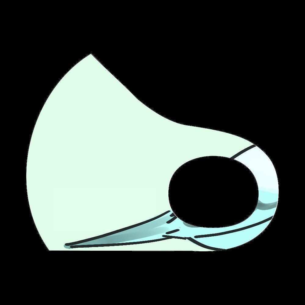 インコ(自称)マスクその2 スポーツマスク