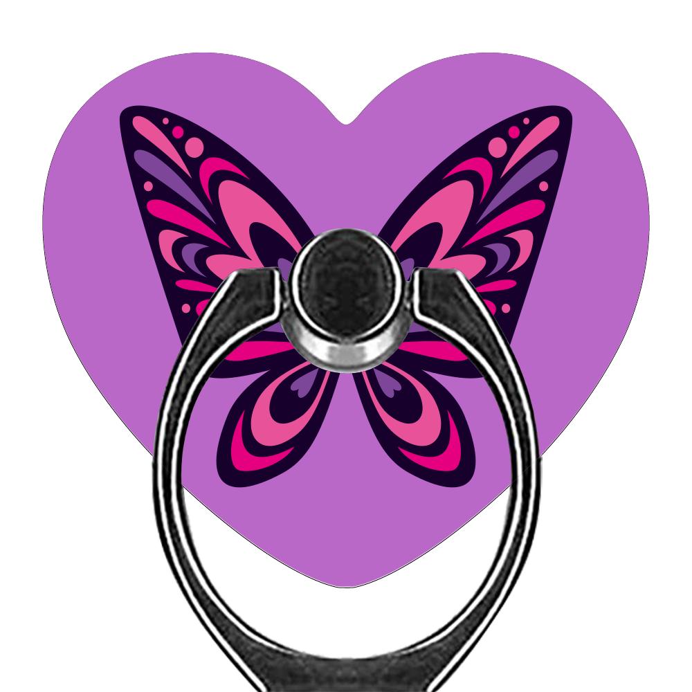 Butterfly スマホリング(ハート型)