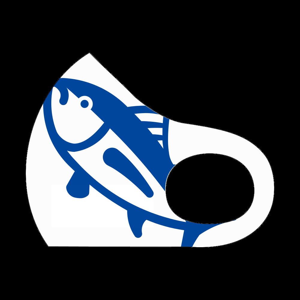 魚 青 スポーツマスク