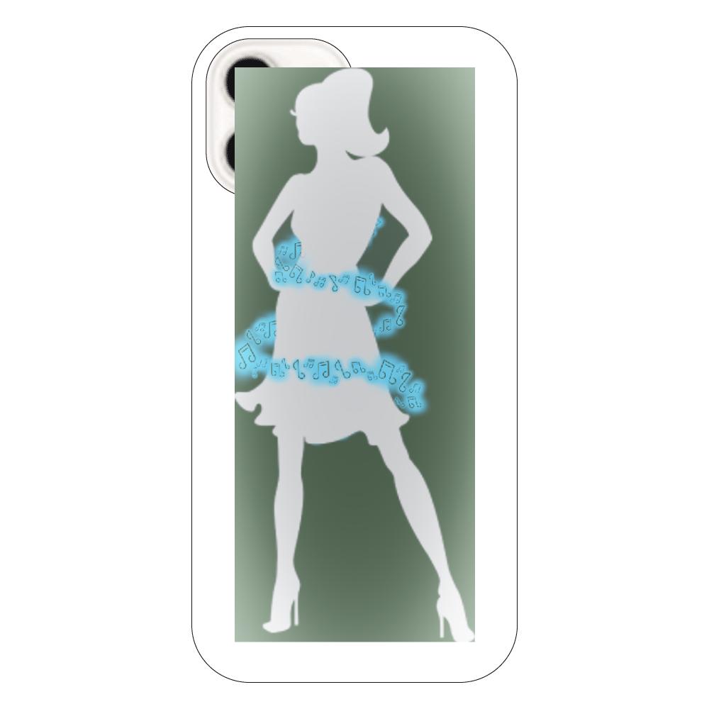 女性( ꈍᴗꈍ)と天使( ꈍᴗꈍ) iPhone12(透明)