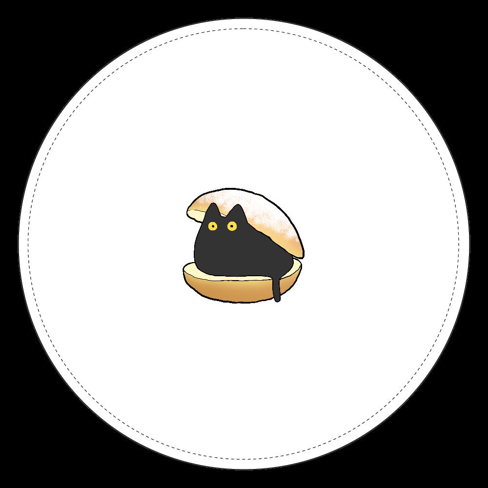 ゆるい猫マリトッツォコインケース(黒) コインケース