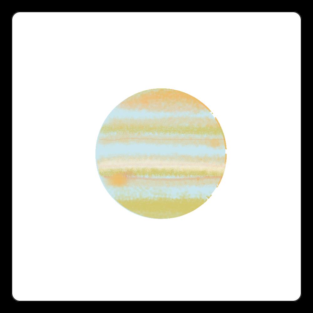 やさしい木星 白雲石コースター 四角