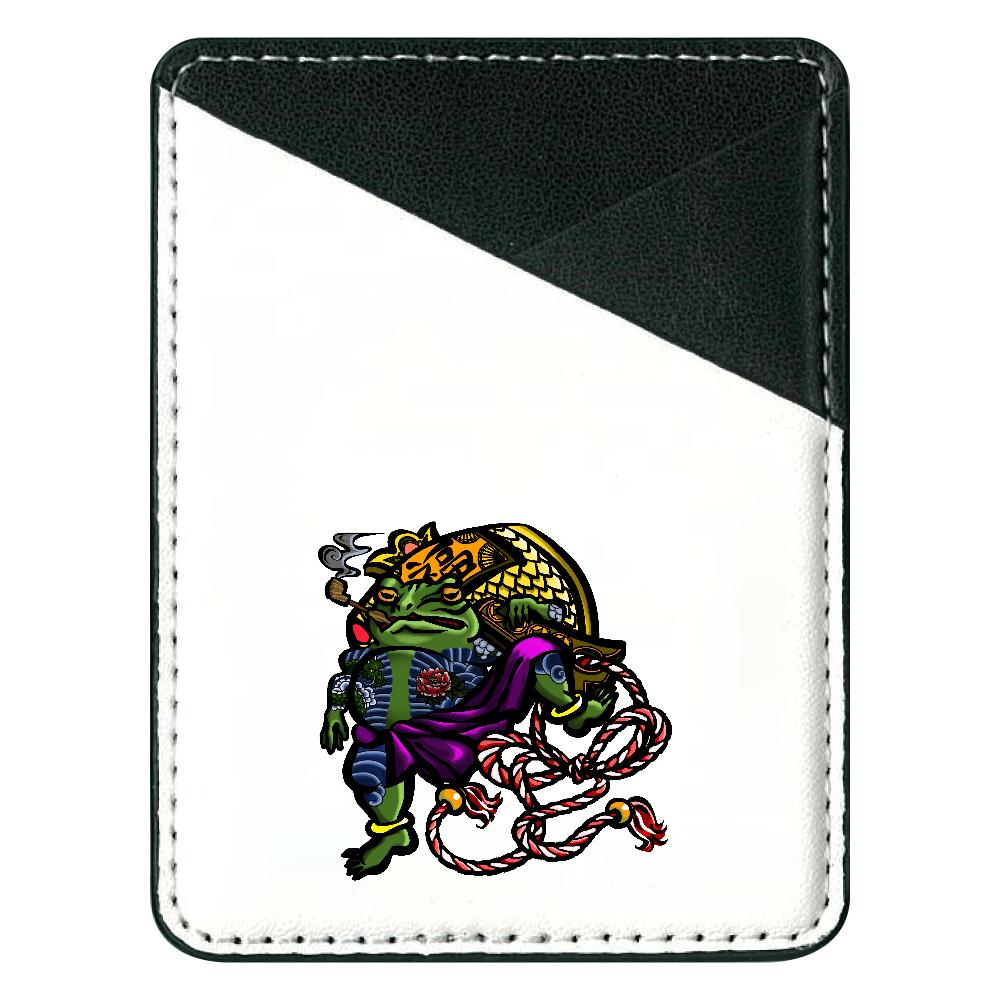 福を呼ぶ蛙と打ち出の小づち 彩色仕様 貼り付けパスケース(スマホ用)