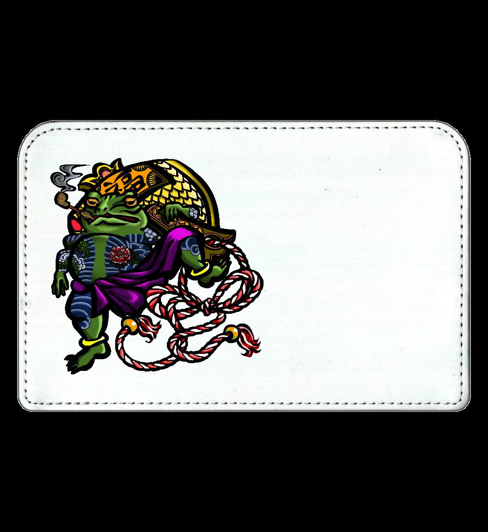 福を呼ぶ蛙と打ち出の小づち 彩色仕様 化粧ポーチ