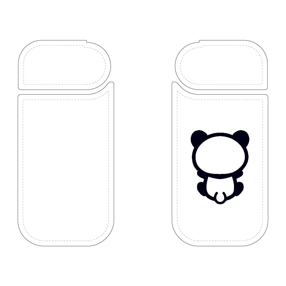 【パンダの背中】背中を向けて座るパンダのIQOSケース 黒 IQOSケース