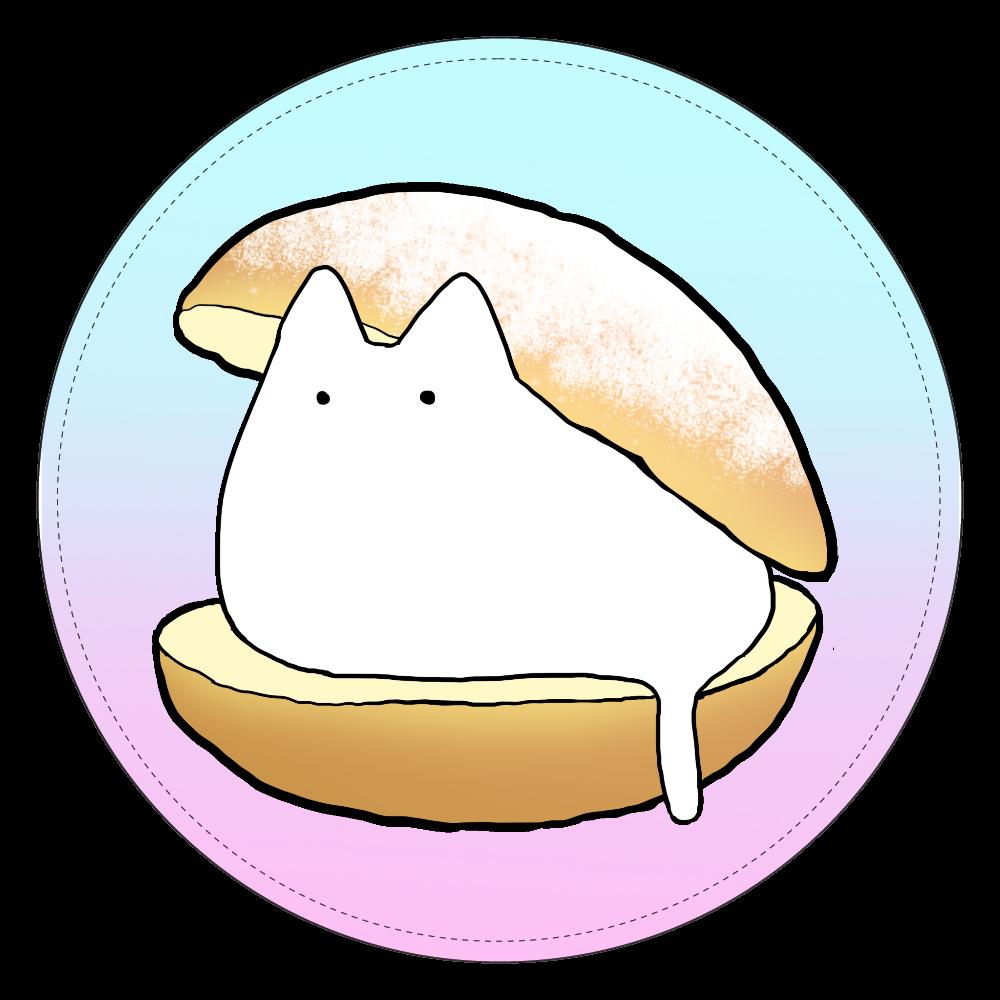 ゆるい猫マリトッツォコインケース(白) コインケース