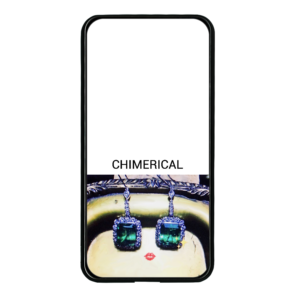 JEWELRYフェイス 8000mAh 大容量モバイルバッテリー 両面ガラス 8000mAH