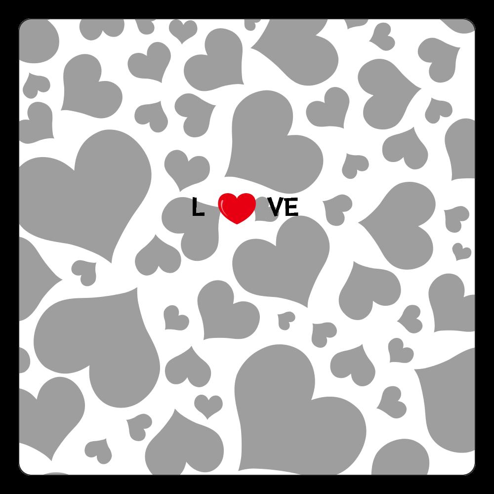 love love 白雲石コースター 四角