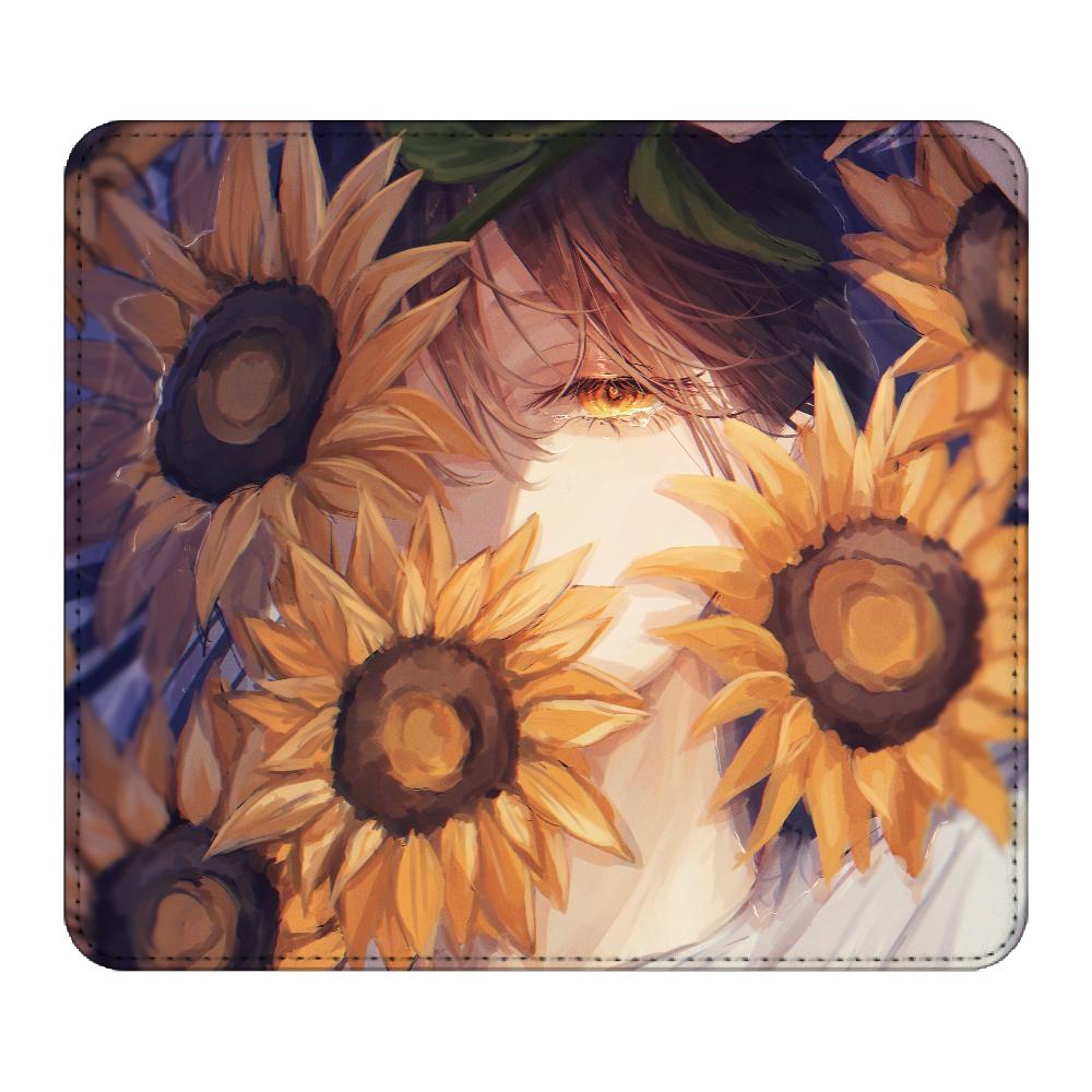 向日葵の花手水 マウスパッド マウスパッド