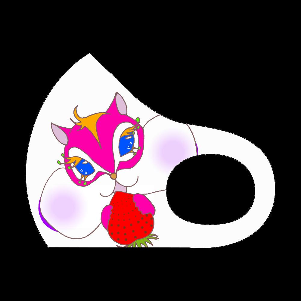 ピンク栗鼠さんマスク スポーツマスク