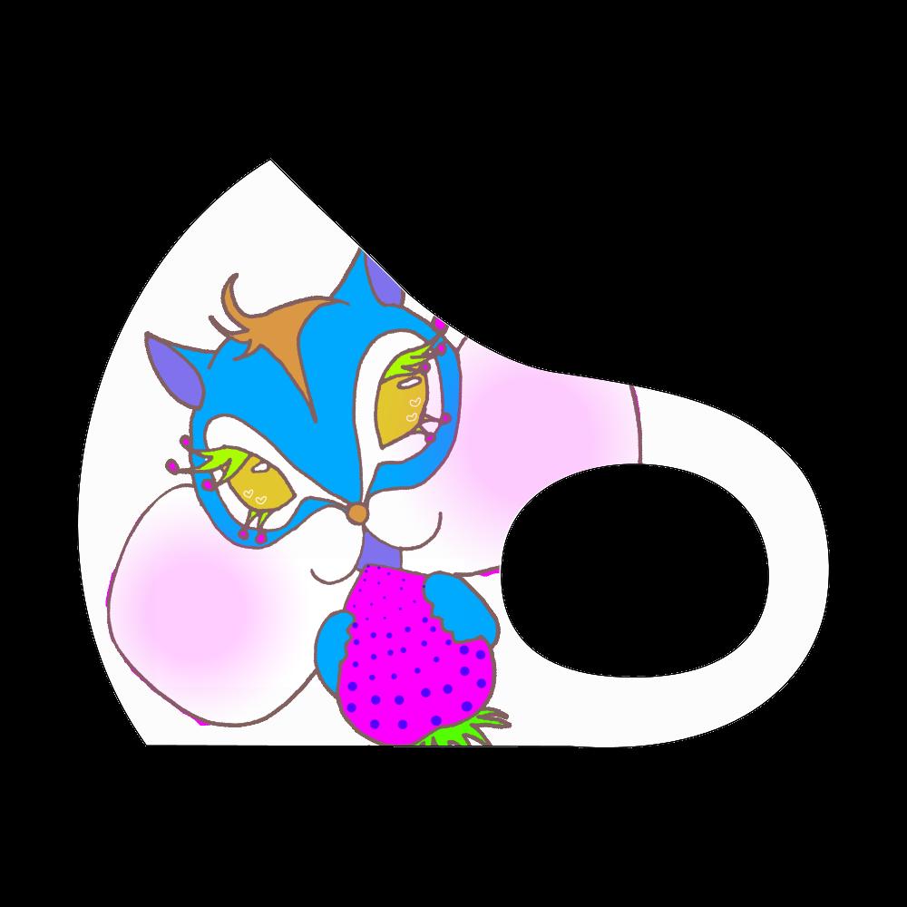 ブルー栗鼠さんマスク スポーツマスク