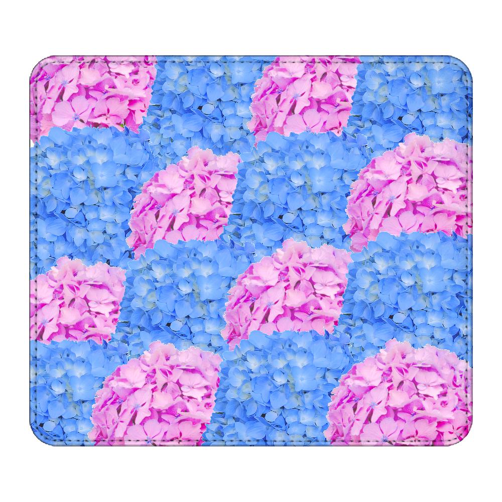 紫陽花柄のマウスパッド マウスパッド