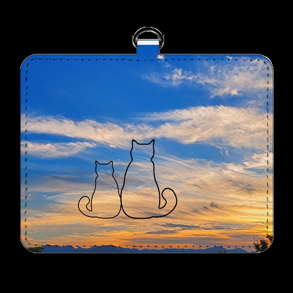 寄り添い猫パスケース パスケース