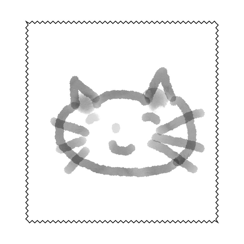 幸せなネコちゃん マイクロファイバーメガネ拭き