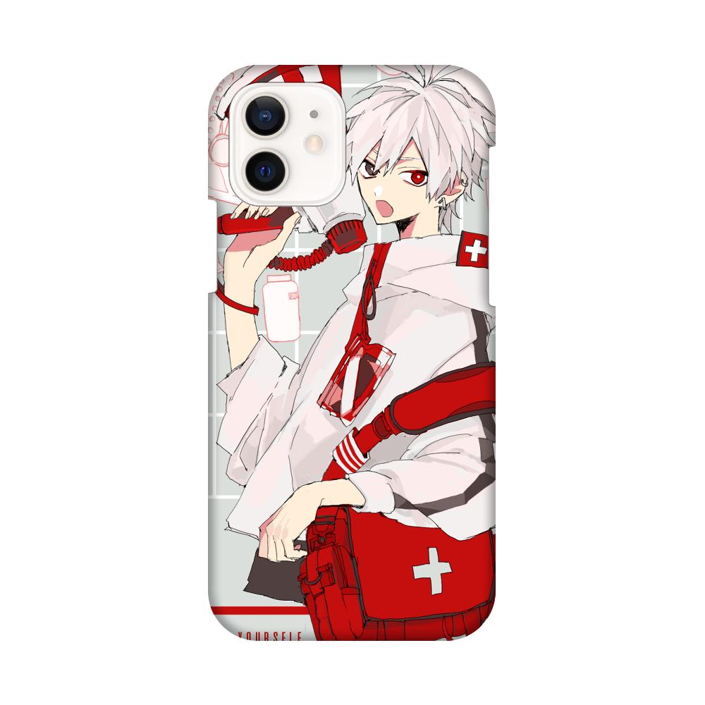 「お大事に」 スマホケース iPhone12 / 12 Pro