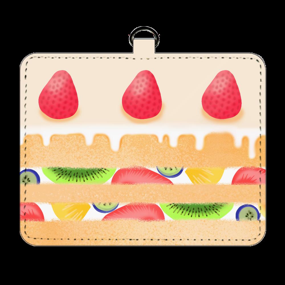 フルーツケーキ風 パスケース