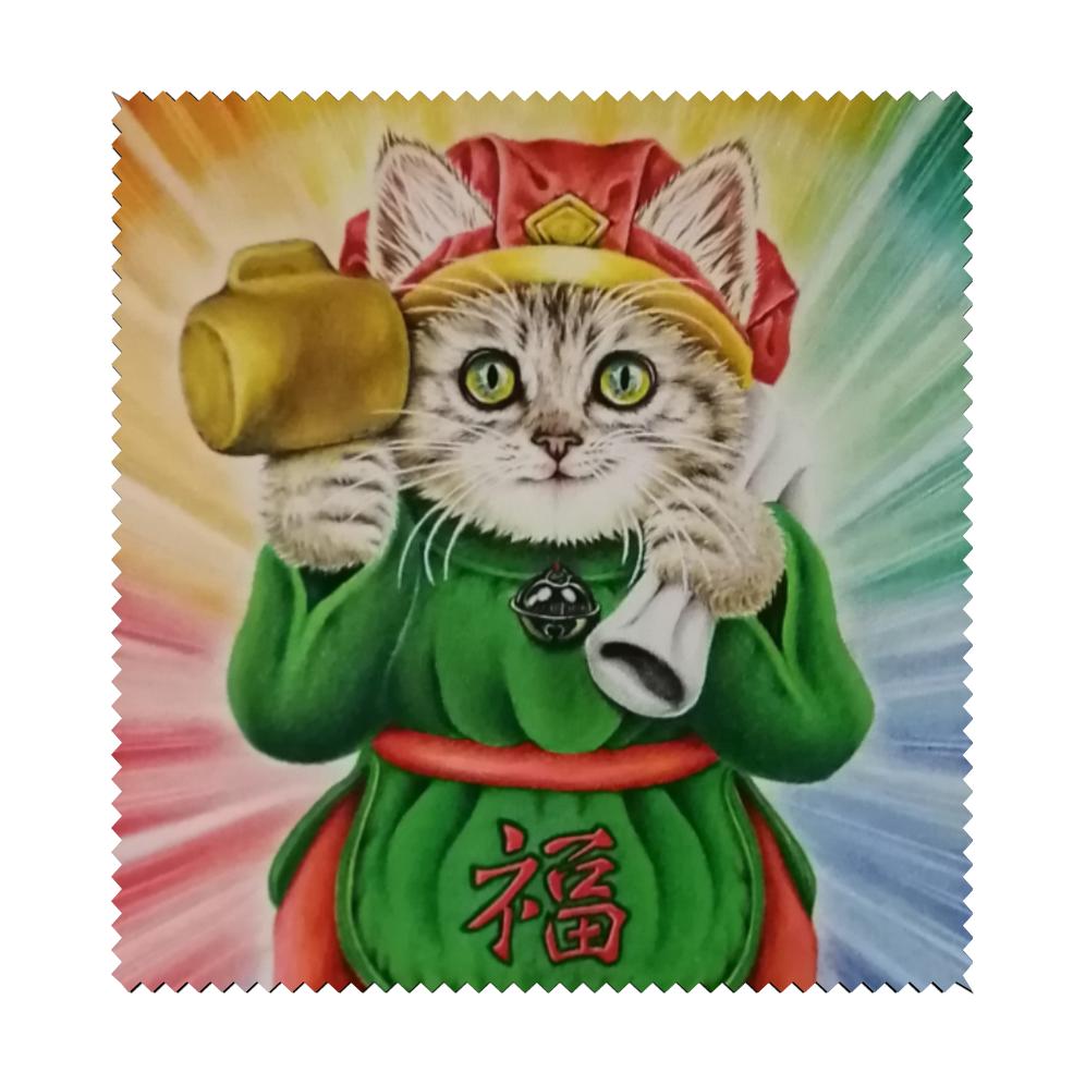猫大黒天 マイクロファイバーメガネ拭き